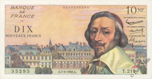 Ten New Francs 1960s