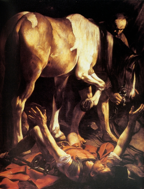 Conversion of Paul on the way to Damascus by Carravaggio