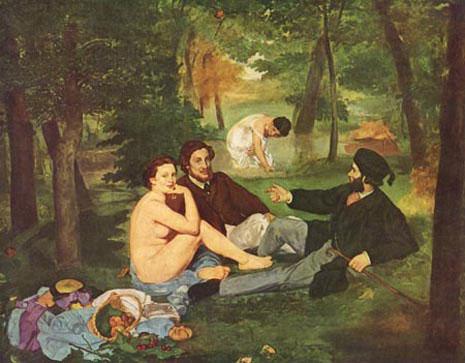 Manet's Le dejeuner sur l'herbe