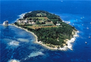Island of St Honorat and monastery